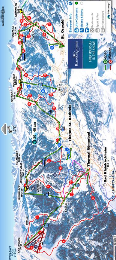 Bad Kleinkirchheim Snowboarding Map
