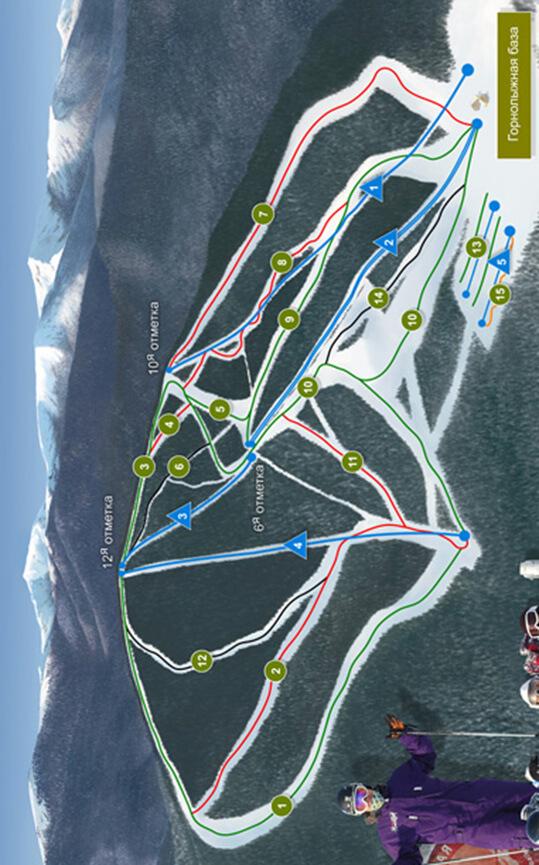 Baikalsk-Sobolinaya Ski Area Snowboarding Map