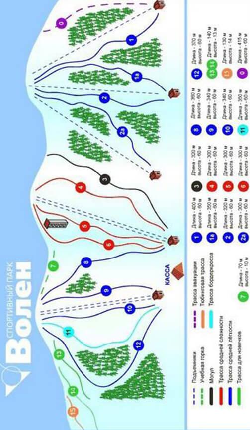 Volen Ski Area Snowboarding Map