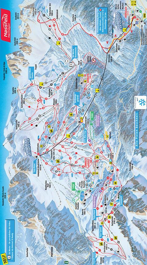 Nassfeld Hermagor Snowboarding Map