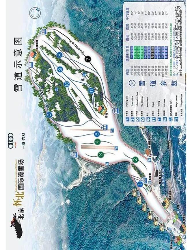Huaibei International Ski Resort Snowboarding Map