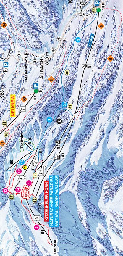 Kitzbuheler Horn Snowboarding Map