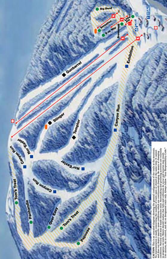 Ski Sundown Snowboarding Map