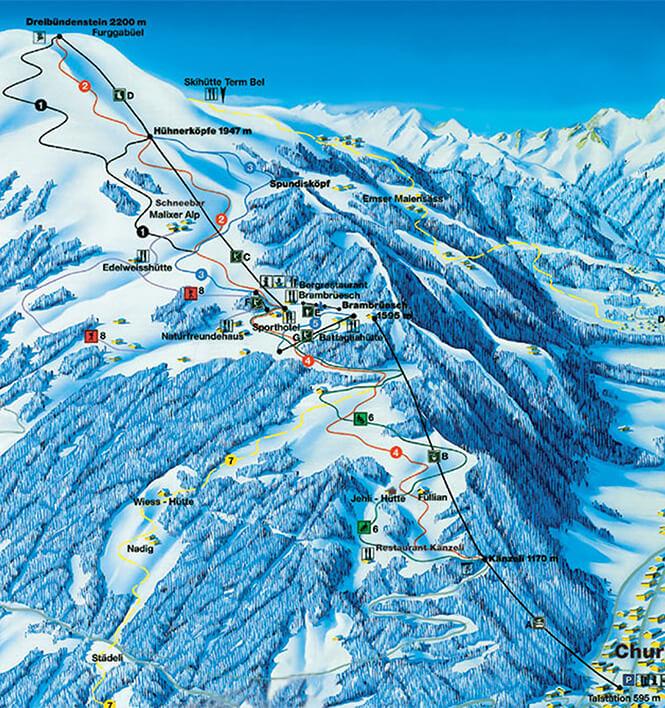 Brambruesch Snowboarding Map