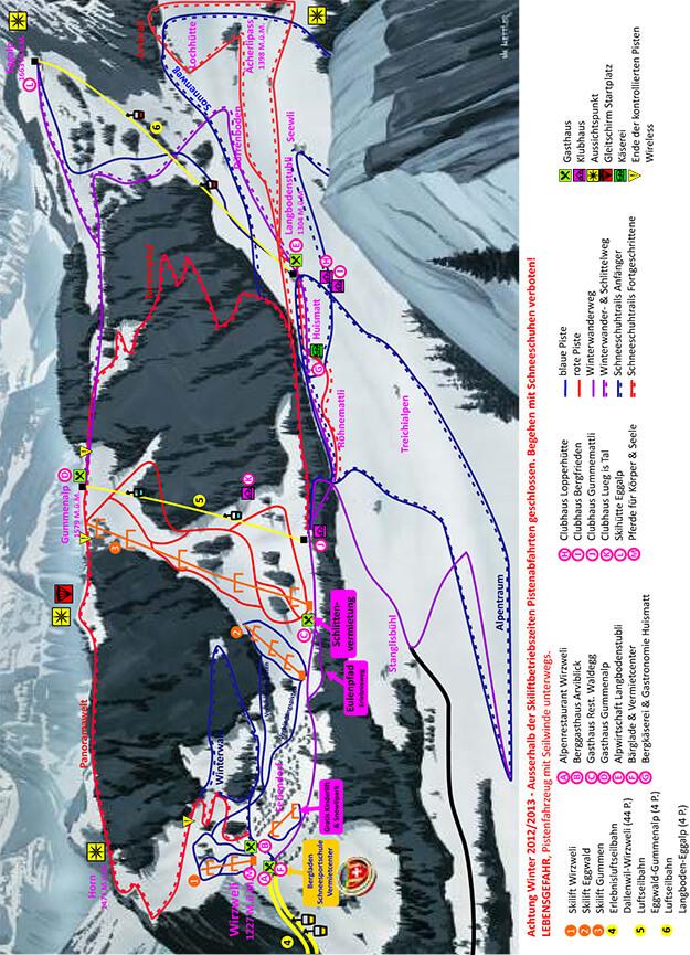 Wirzweli Snowboarding Map