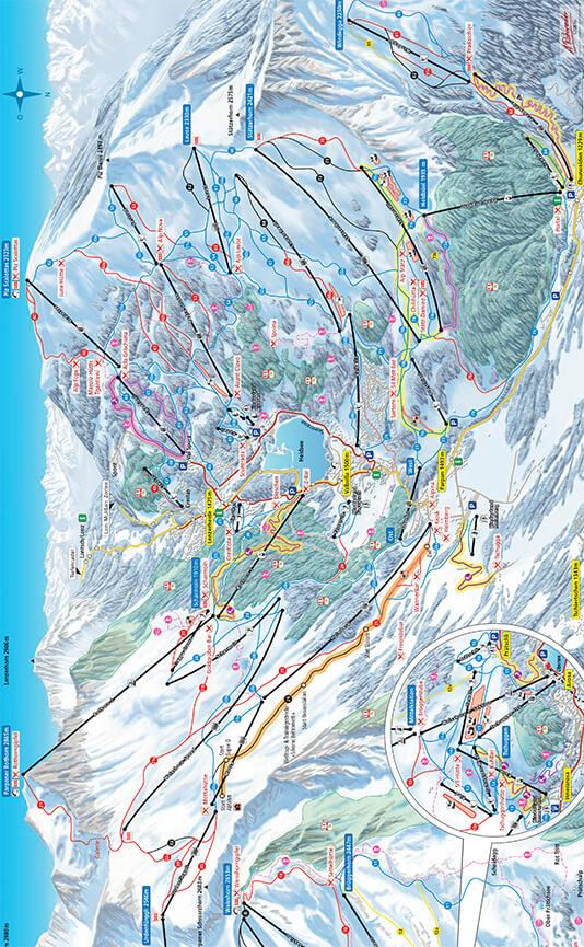 Lenzerheide Snowboarding Map