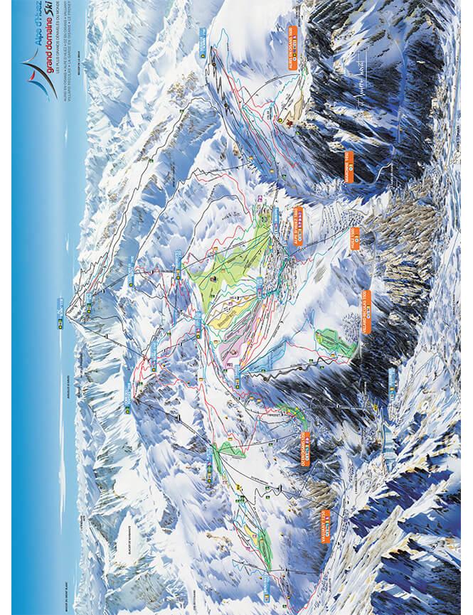 Alpe d Huez Snowboarding Map