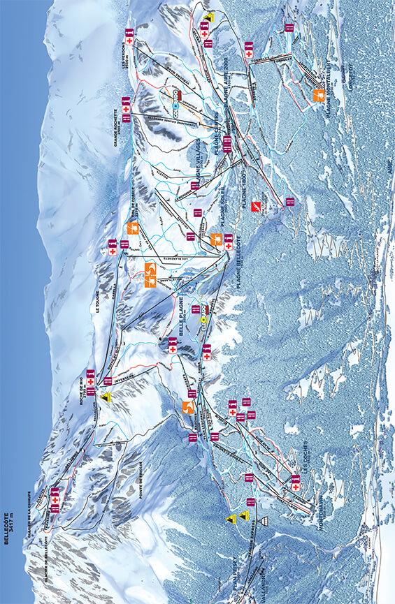 La Plagne Snowboarding Map