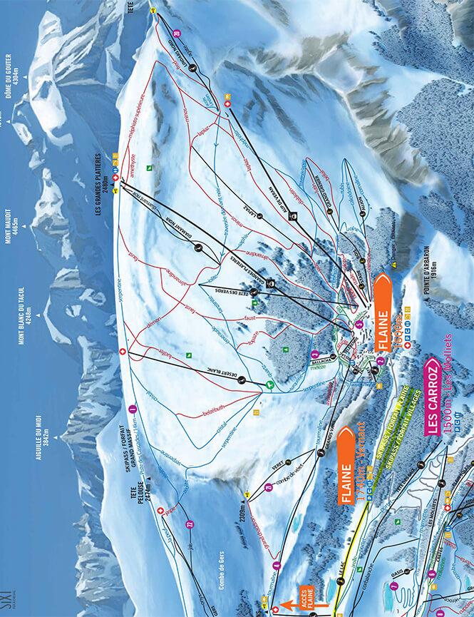 Flaine Snowboarding Map