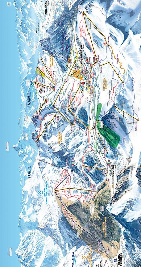 Montgenevre Snowboarding Map