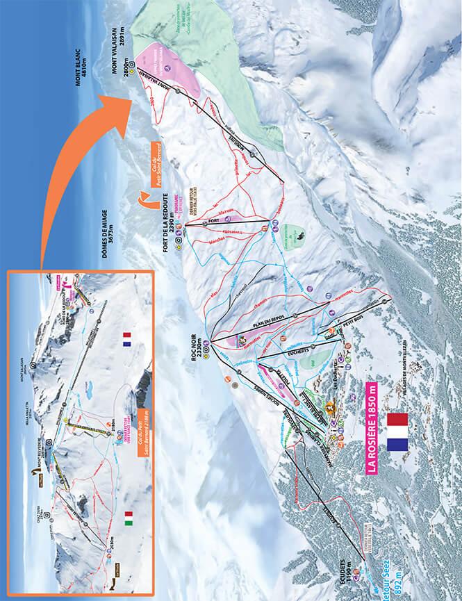 La Rosiere Snowboarding Map