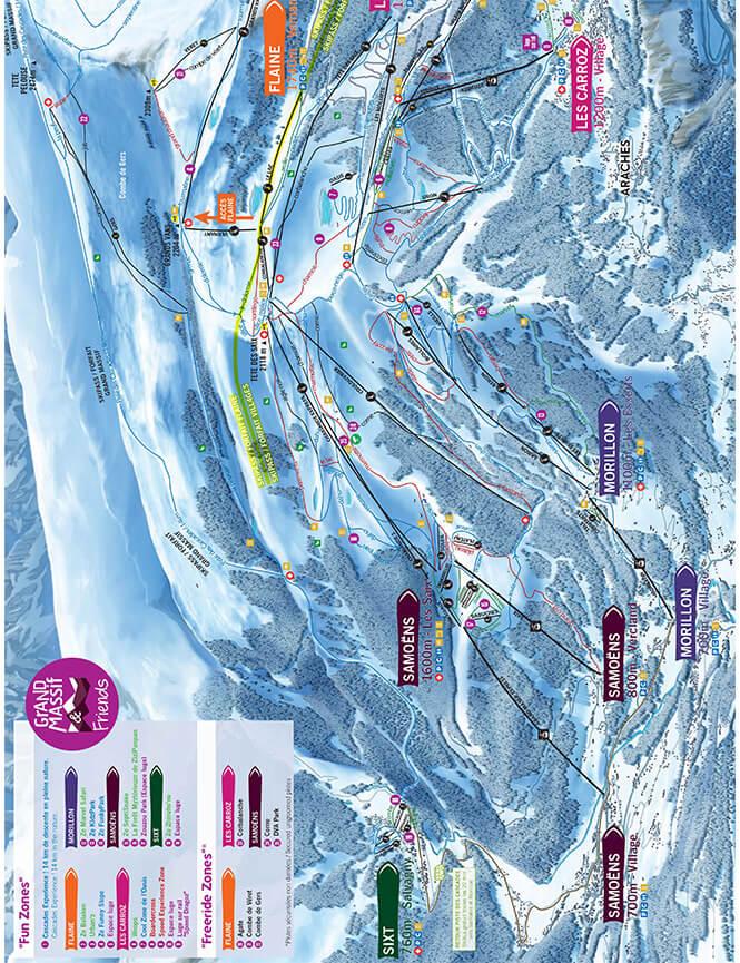 Samoens Snowboarding Map