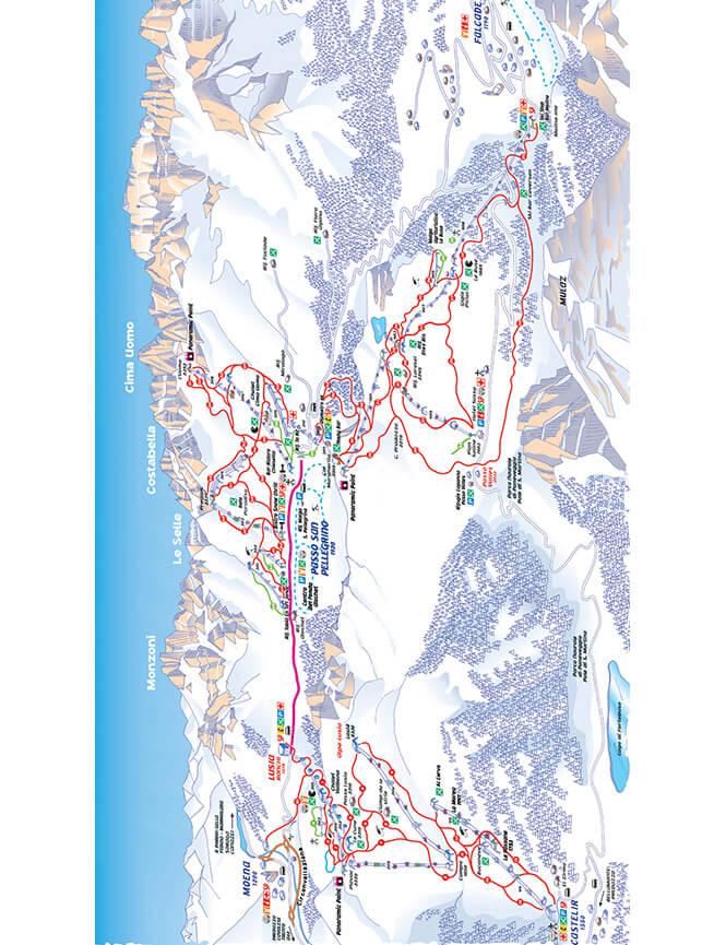 Trevalli Snowboarding Map