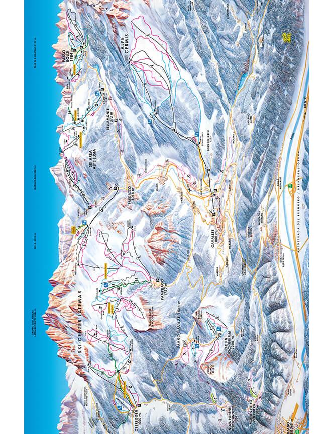 Val di Fiemme Snowboarding Map
