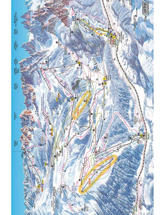 Alta Pusteria Snowboarding Map