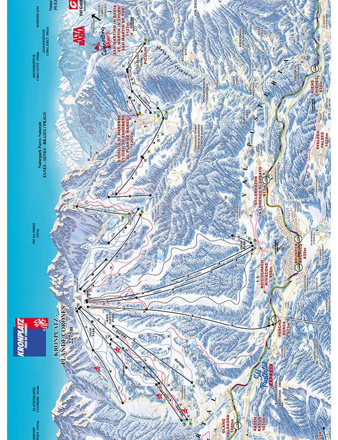 Kronplatz Snowboarding Map