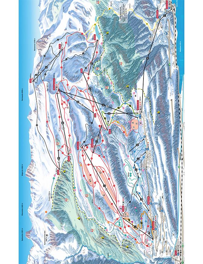 Flumserberg Snowboarding Map