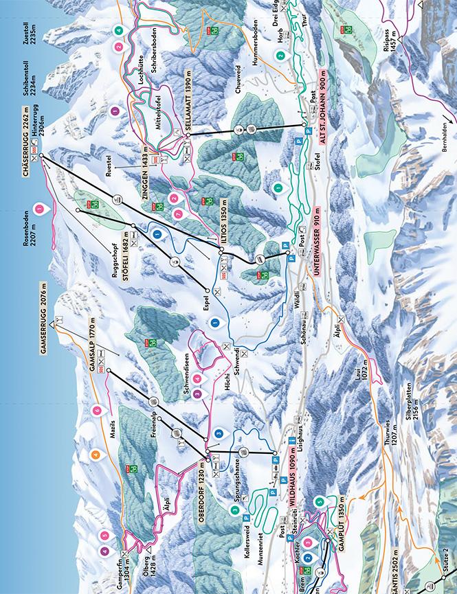Toggenburg Snowboarding Map