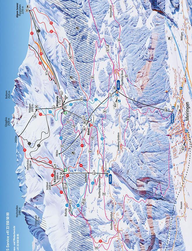 Meiringen-Hasliberg Snowboarding Map