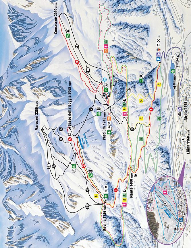 Airolo Snowboarding Map
