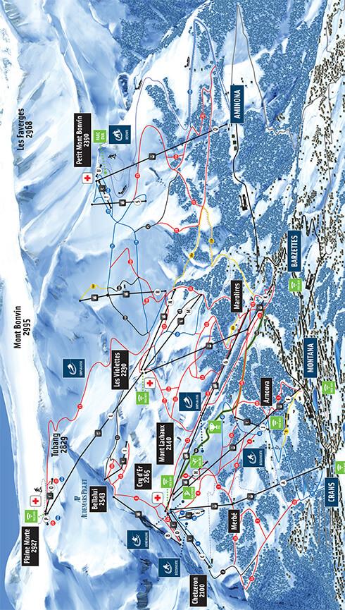 Crans-Montana Snowboarding Map
