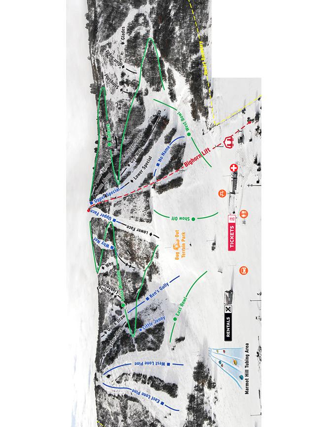 Ski Hesperus Snowboarding Map