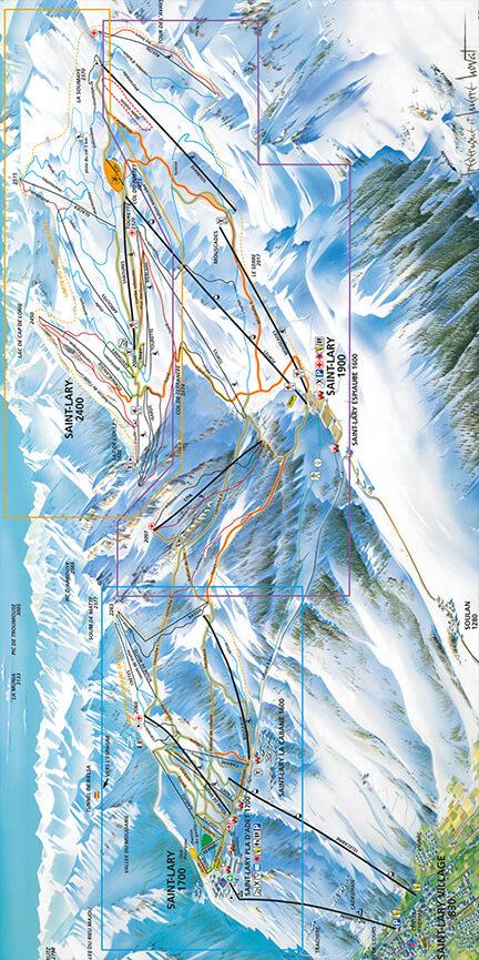 St-Lary-Soulan Snowboarding Map
