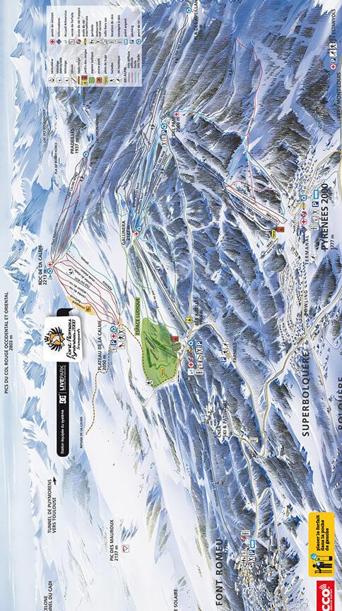 Font-Romeu Snowboarding Map