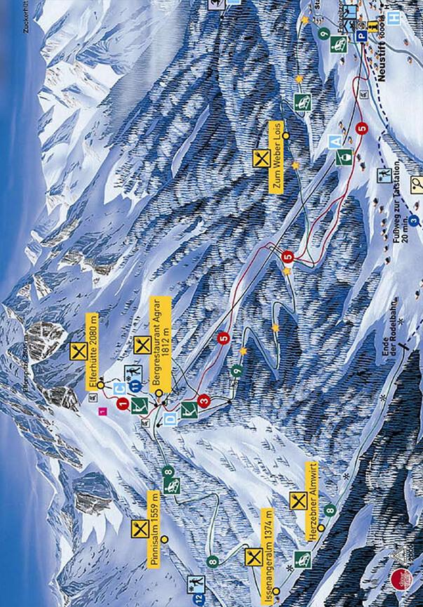 Elferbahn Snowboarding Map