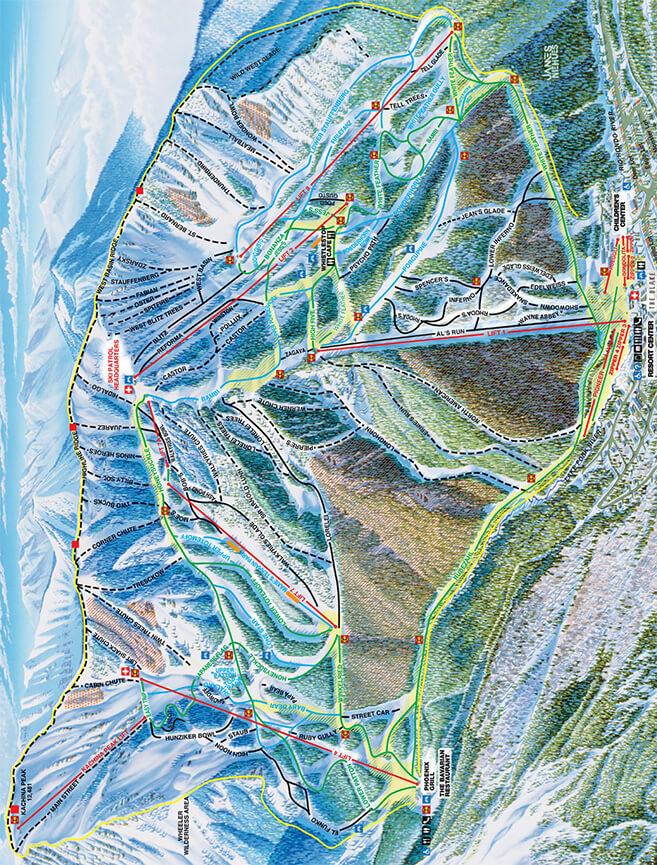 Taos Ski Area Snowboarding Map