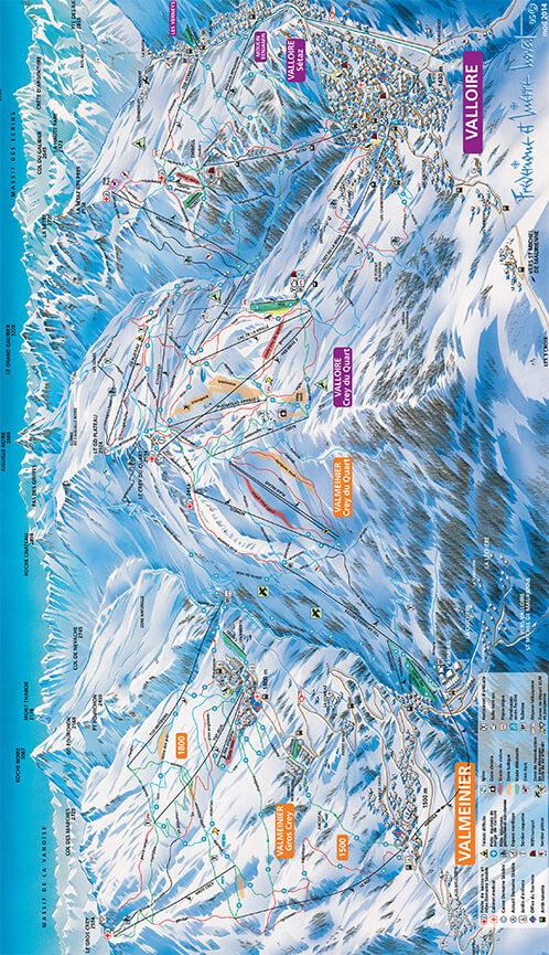 Valloire-Valmeinier Snowboarding Map