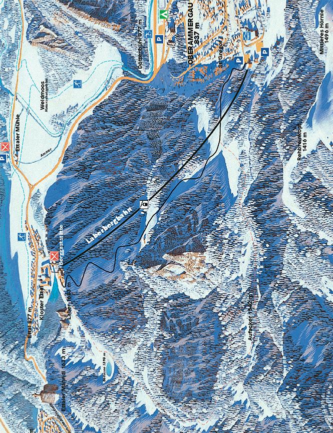 Oberammergau Snowboarding Map