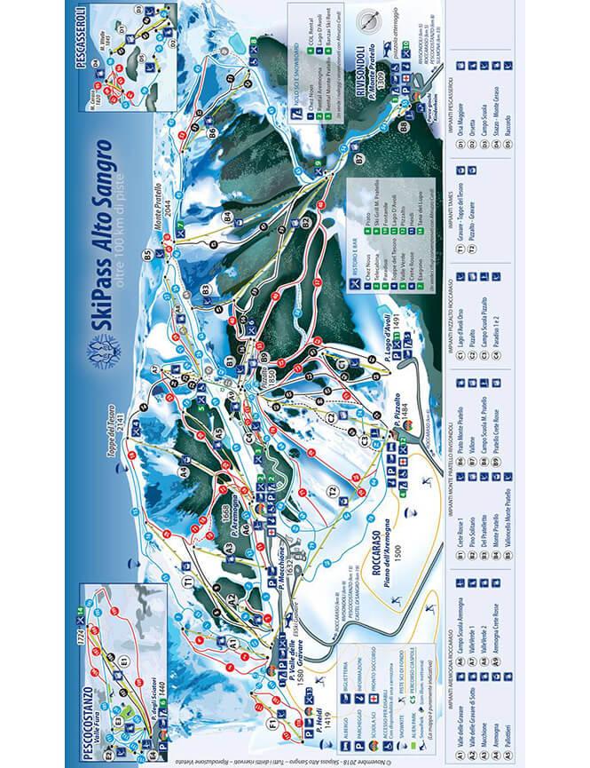 Roccaraso - Rivisondoli Snowboarding Map