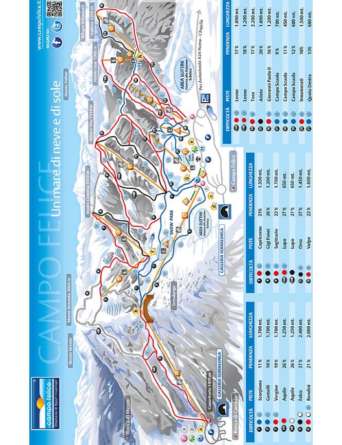 Campo Felice Snowboarding Map