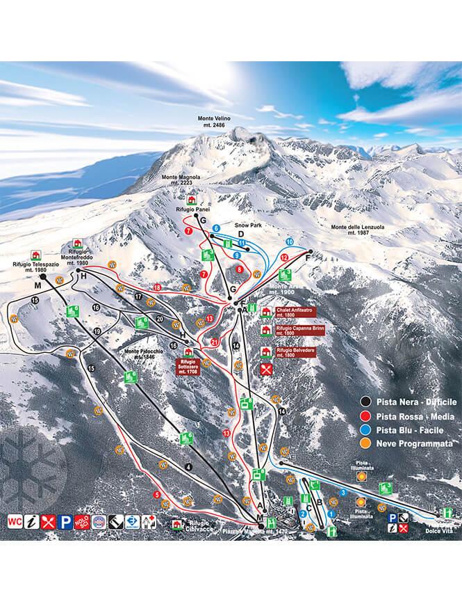 Ovindoli Monte Magnola Snowboarding Map