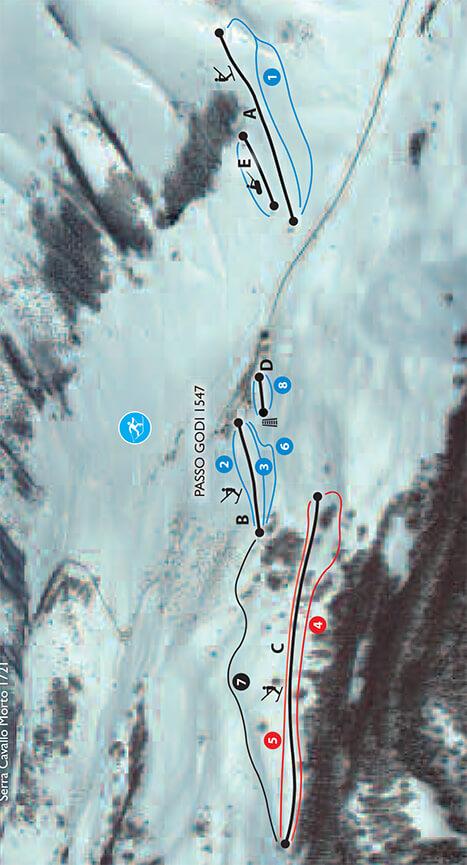 Scanno Passo Godi Snowboarding Map