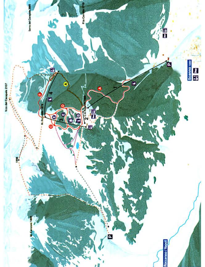 Scanno Monte Rotondo Snowboarding Map
