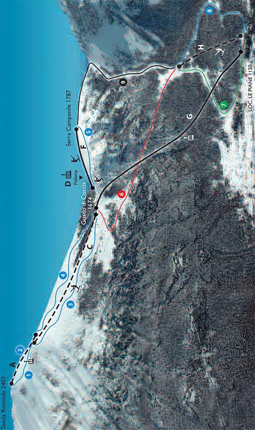 Campo di Giove Snowboarding Map