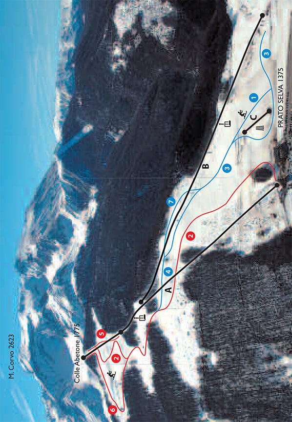 Prato Selva Snowboarding Map