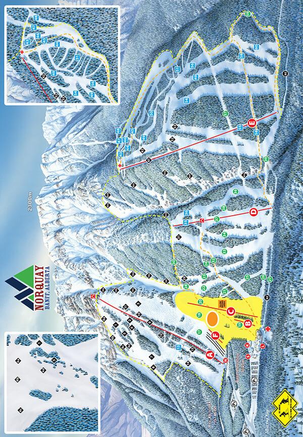 Norquay Snowboarding Map