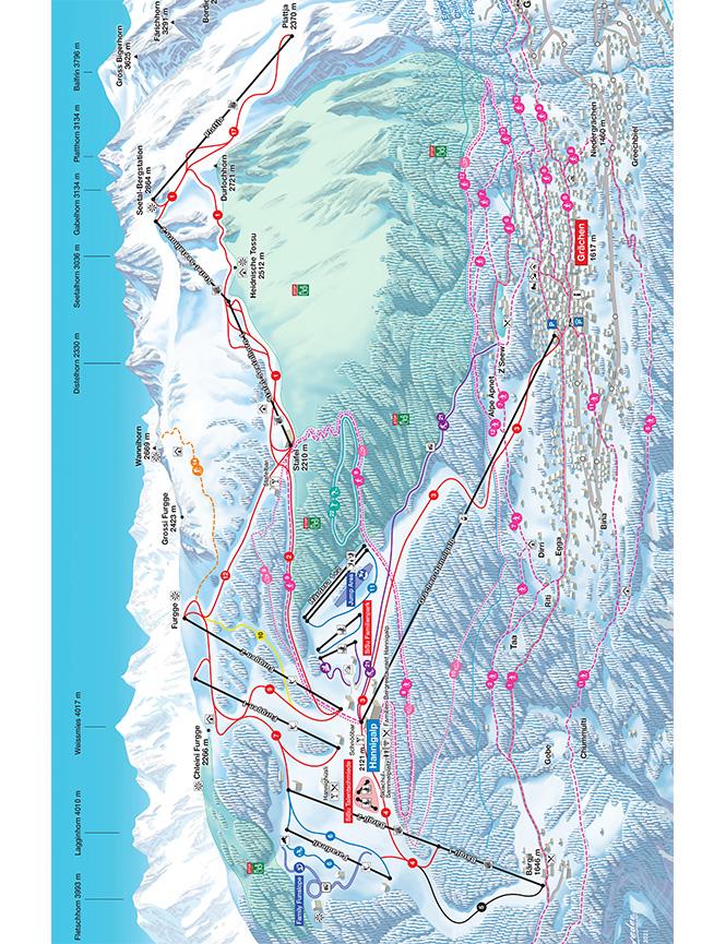 Grachen Snowboarding Map
