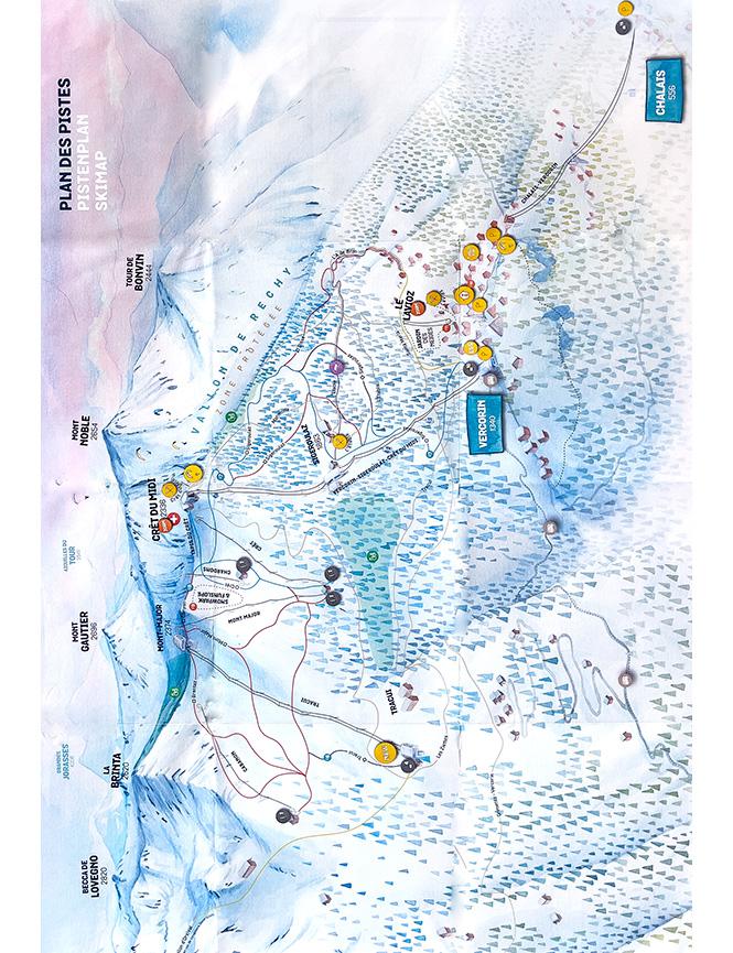 Vercorin Snowboarding Map