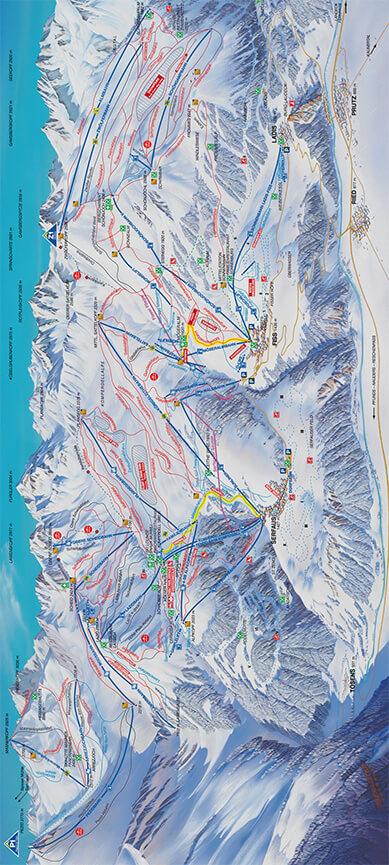 Serfaus - Fiss - Ladis Snowboarding Map