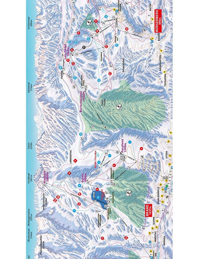 Brandnertal Snowboarding Map
