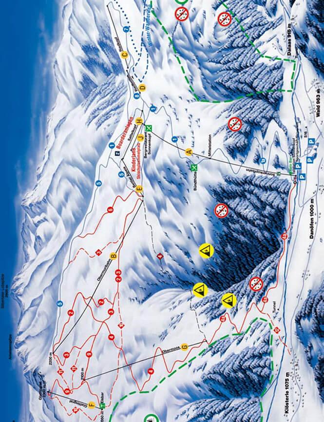 Sonnenkopf Snowboarding Map
