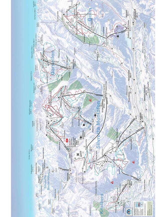Montafon Snowboarding Map