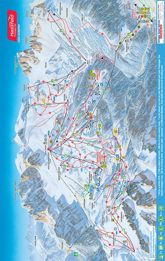 Nassfeld-Pressegger See Snowboarding Map