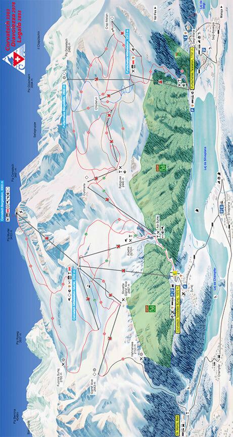 Corvatsch Snowboarding Map
