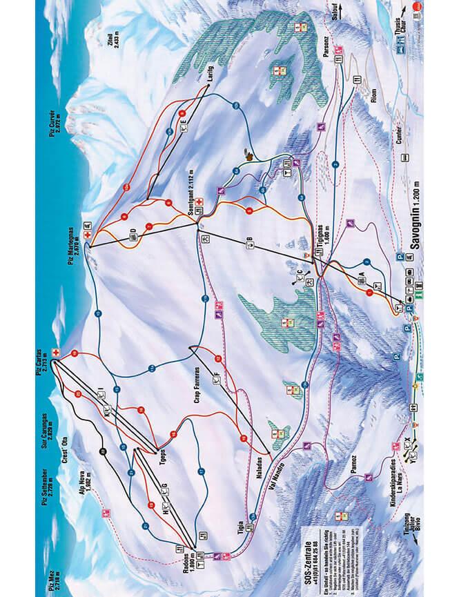 Savognin Snowboarding Map