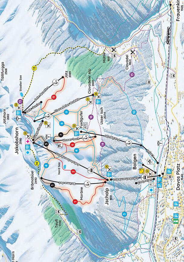 Jakobshorn Snowboarding Map